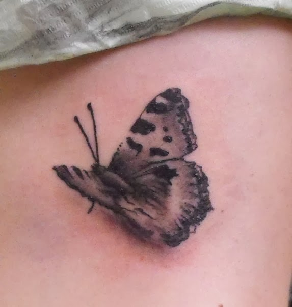 Pictures of 3d butterfly tattoos for girl and women