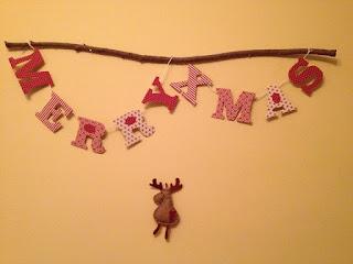 textil girland, karácsony