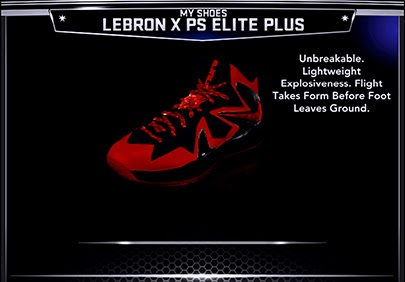 NBA 2K14 Nike LeBron X PS Elite Shoes Mod