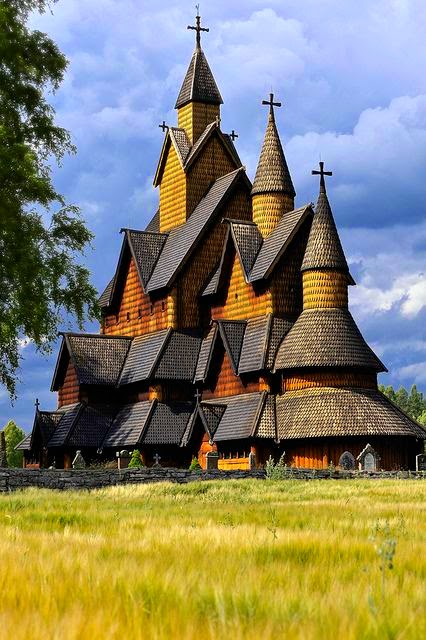 Heddal stave church in Telemark, Norway