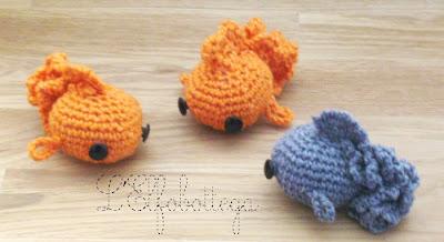 Amigurumi Pesci Uncinetto : LElfobottega: I piccoli Oranda ...o piu comunemente ...