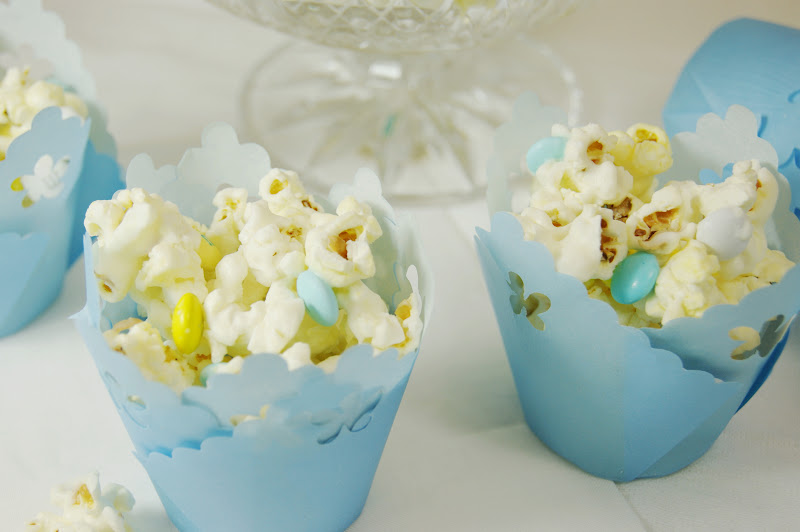 The Kitchen is My Playground: Baby Shower White Chocolate Popcorn