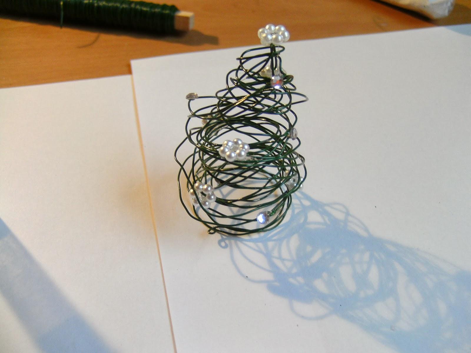 My World: Creative: DIY - Kleiner Draht Tannenbaum