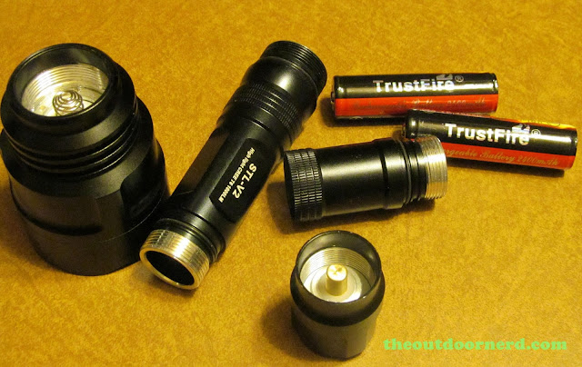 FandyFire STL-V2 Flashlight - Closeup of Components
