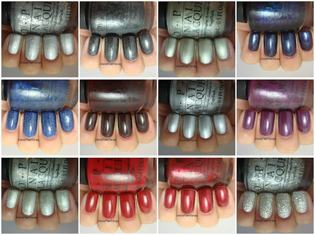 OPI Starlight Collection Swatches