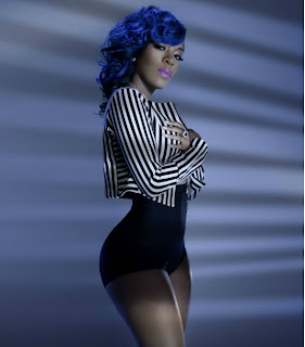 K Michelle Blue Hair Styles Michelle Blue Hair Styles Images & Pictures - Becuo