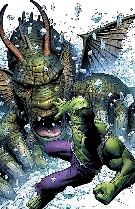 Fin Fang Foom (Marvel Comics) Character Review - Fin Fang Foom Vs Hulk