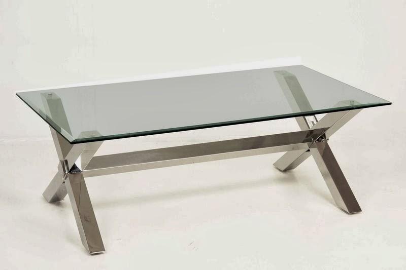 Muebles de forja nuevas mesas de centro en acero inoxidable - Mesa baja cristal ...