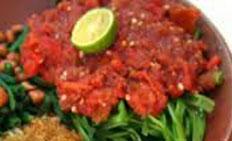 resep praktis (mudah) memasak sayur plecing kangkung spesial khas bali enak, lezat