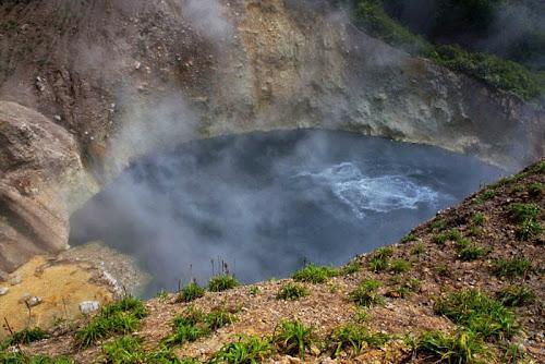 Boiling Lake, o lago fervente de Dominica