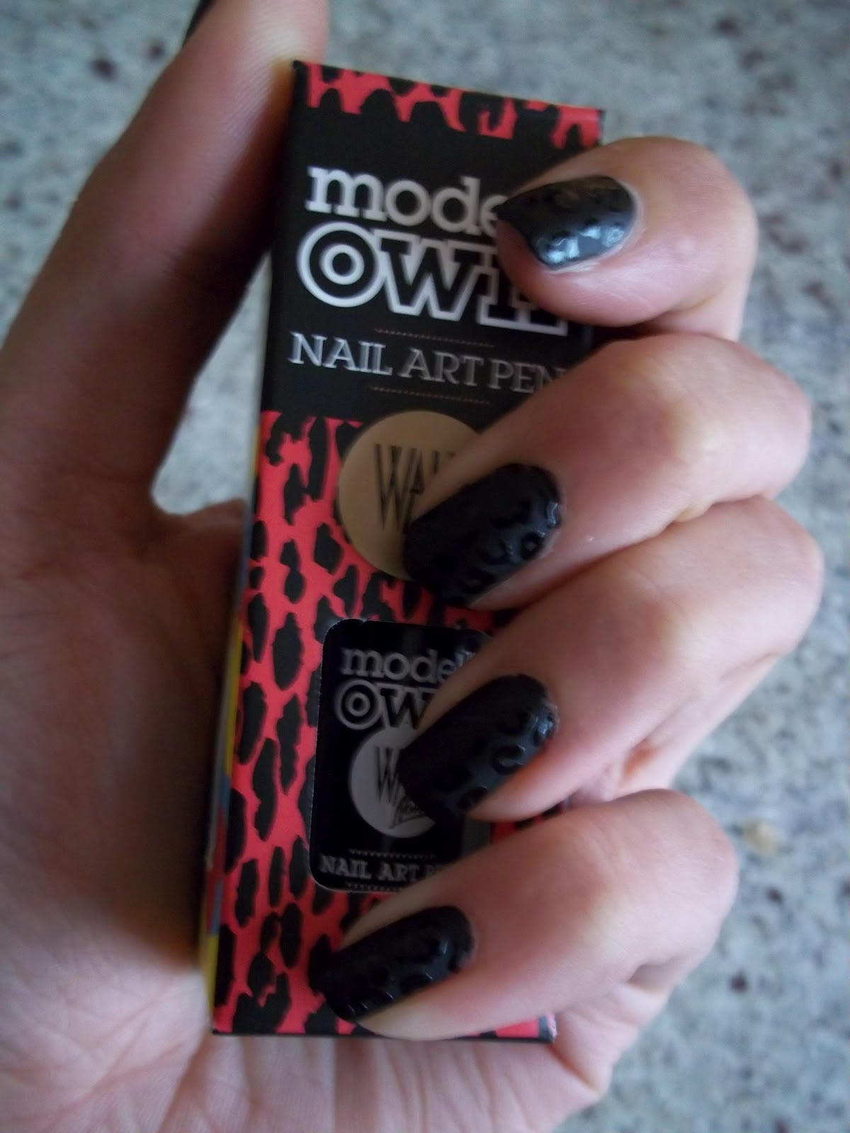 Studs Or Pearls 2 The Art Of Nails Black Matte Leopard