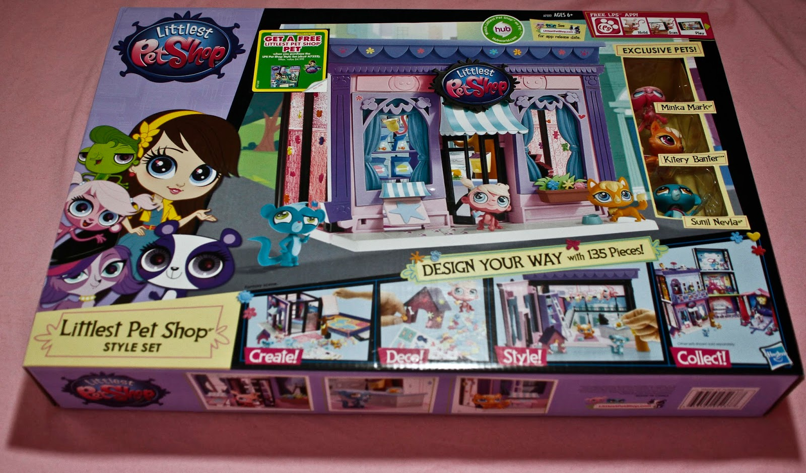 showing a photogrpah of the littlest pet shop style set before opening the box