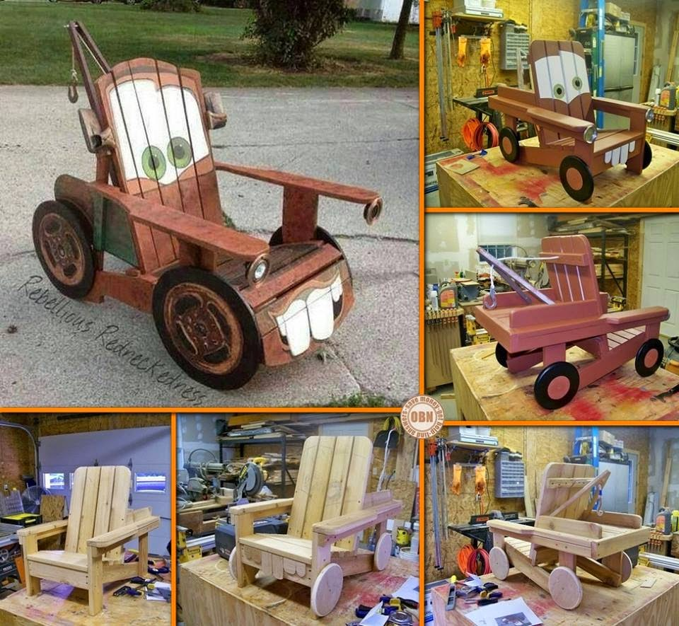 Diy Tow Mater Adirondack Chair Creative Ideas