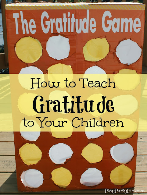 How to Teach Gratitude to Your Children: The #Gratitude #Game from playpartypin.com