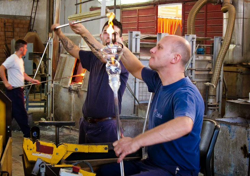 Crystal glass blowing in Colle di Val d'Elsa