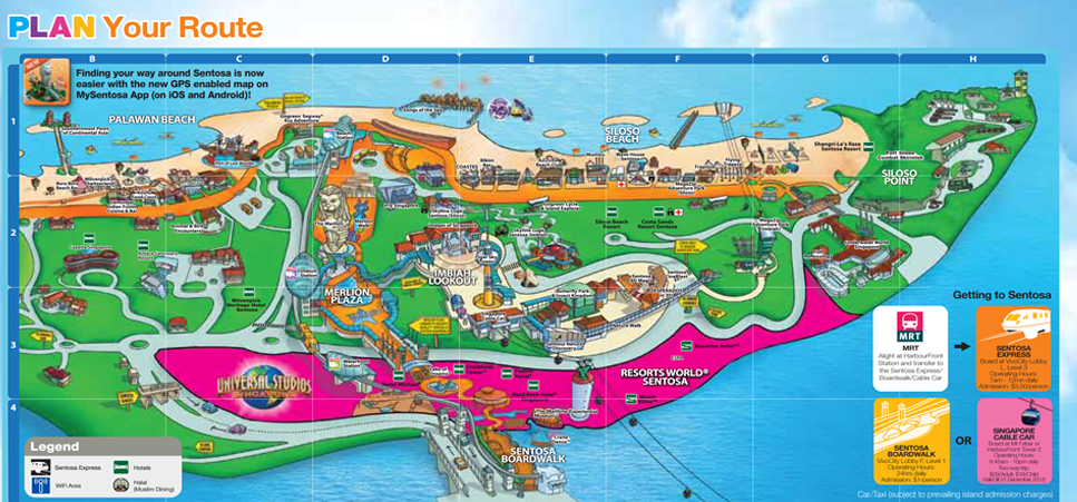 Image Gallery Sentosa Map 2015