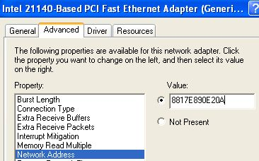 how to change mac address in windows 7 ultimate