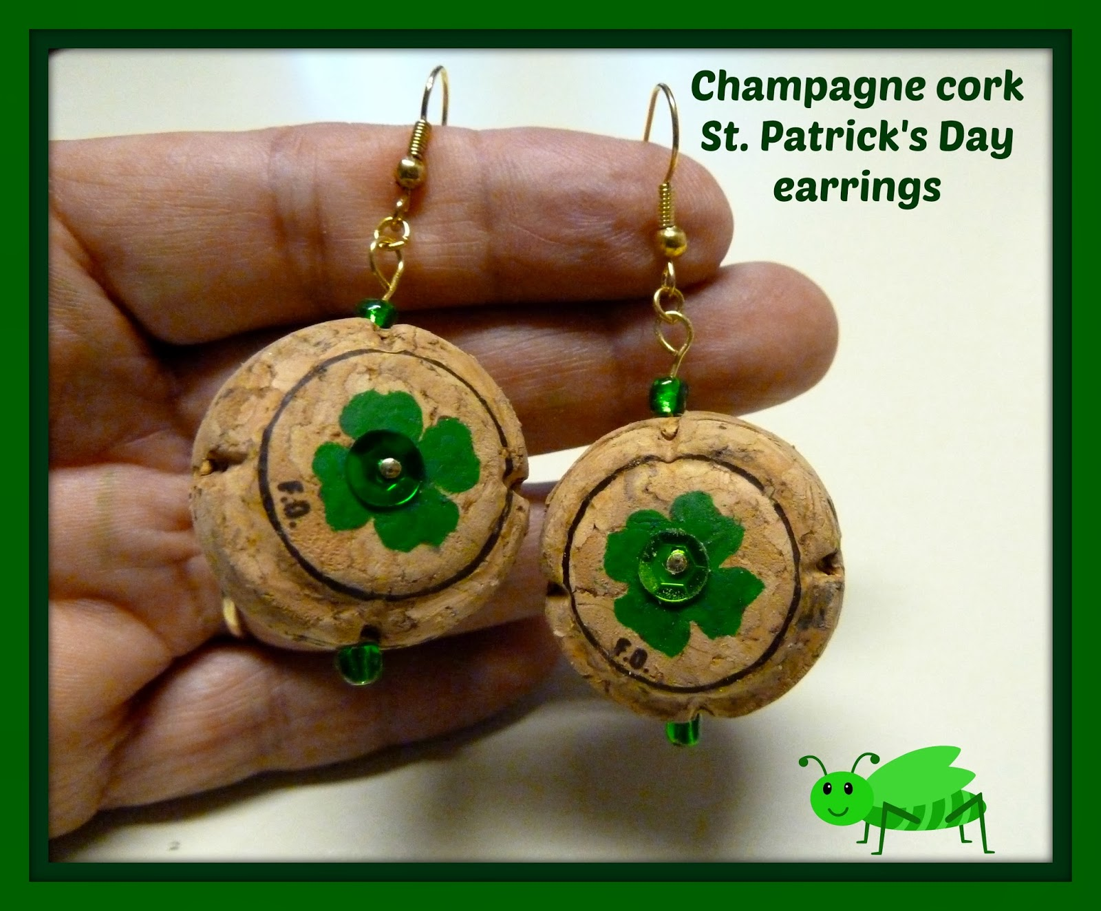 Ive Done Lots Of Crafts With Regular Wine Corks And Even Included Some Champagne In My Designs Recently I Thought Why Not Create Really Green