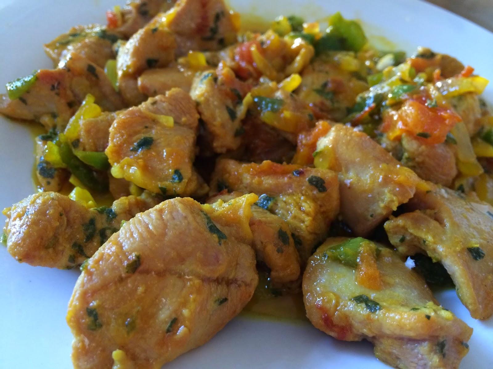 recetas para estudiantes pavo al ajillo