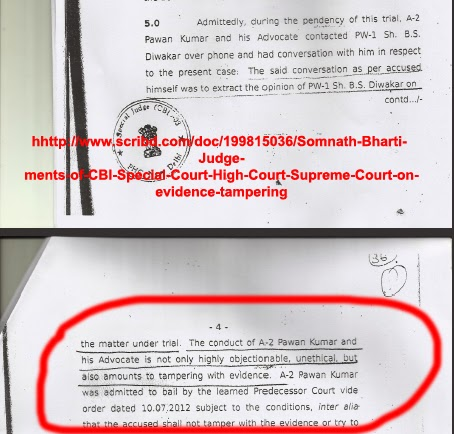 CBI Court order against Somnath Bharati