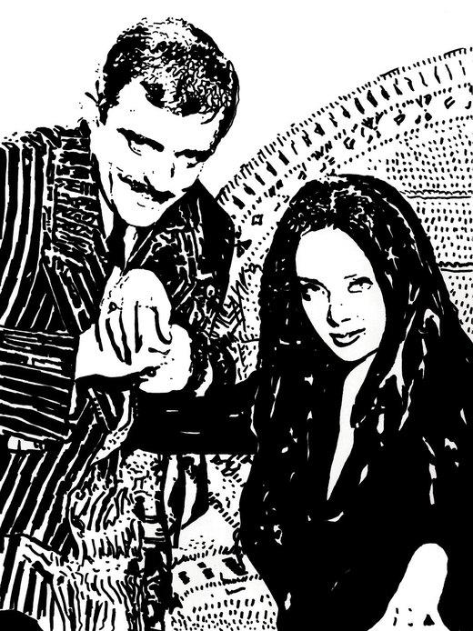 The Addams Family.. por ladyjart