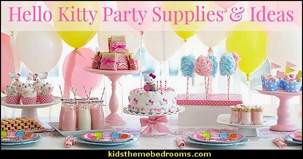 Decorating theme bedrooms Maries Manor hello kitty party supplies