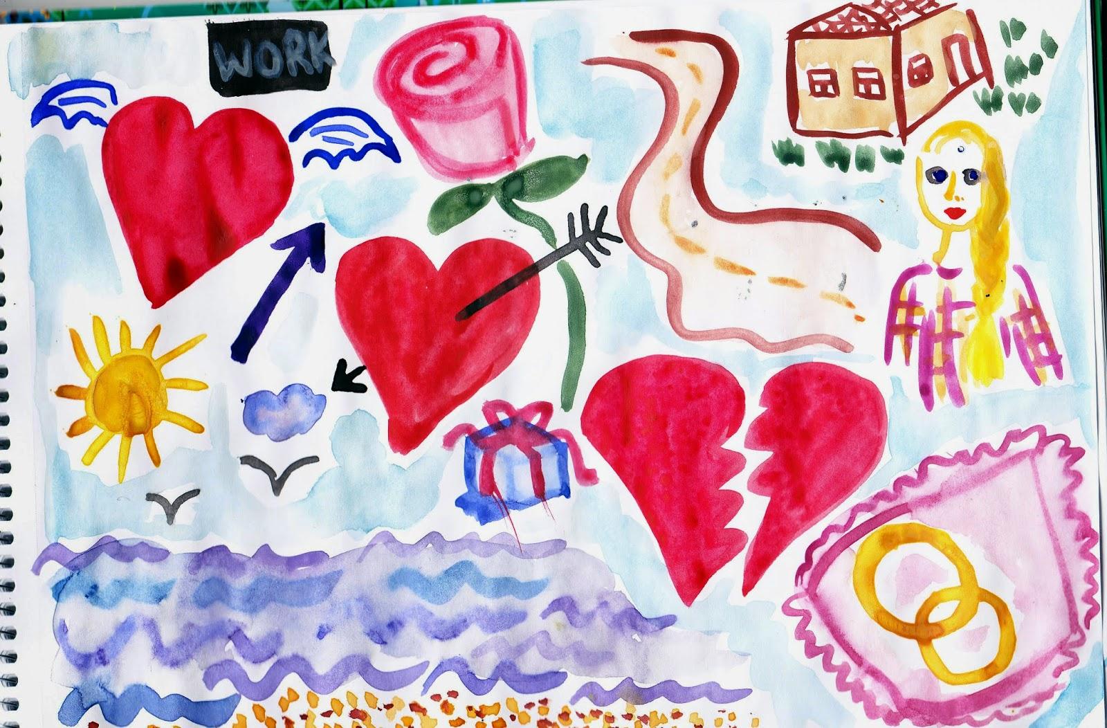 нарисованные картинки про любовь - Нарисованные сердечки Картинки про любовь