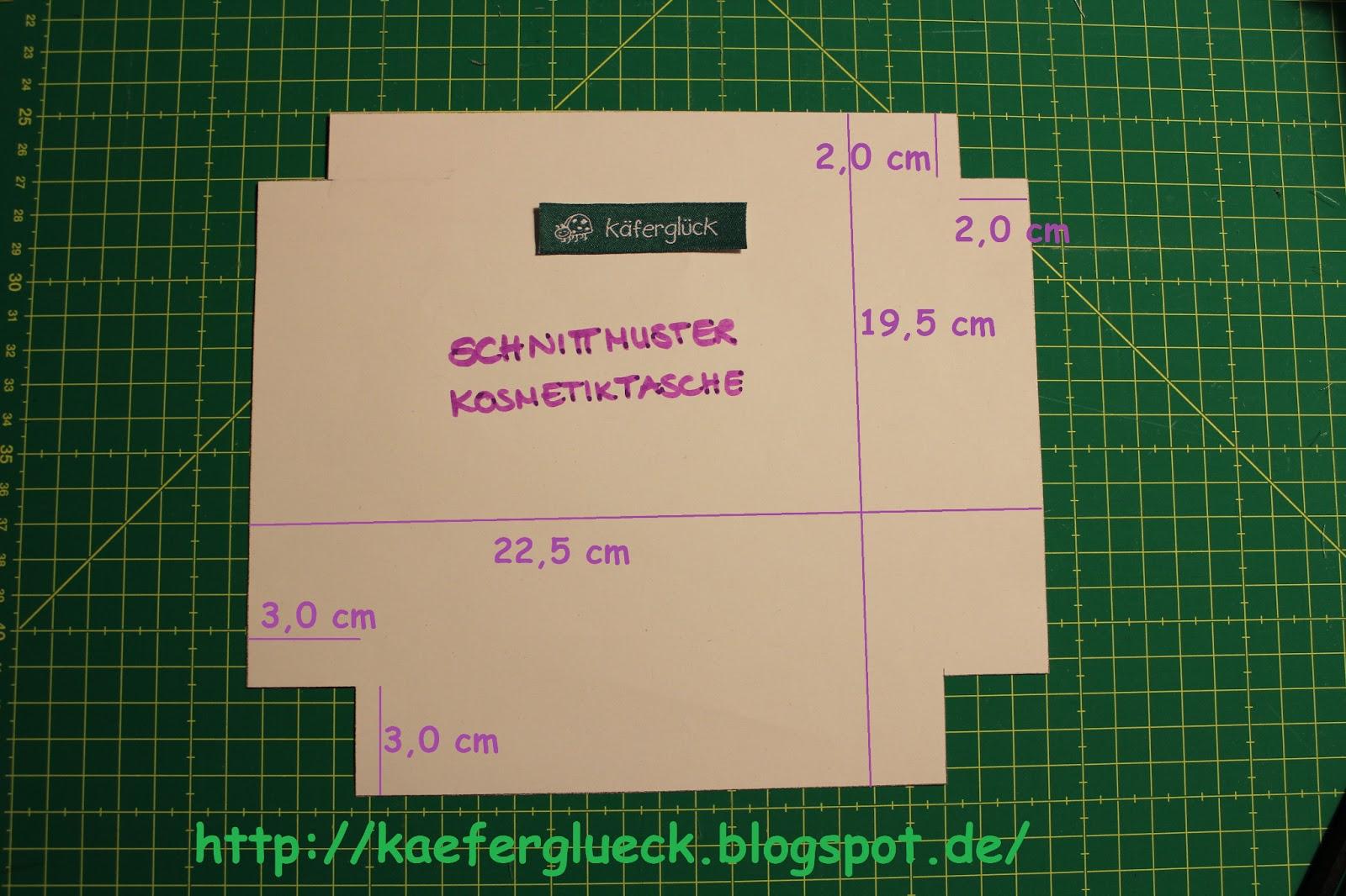 käferglück: Kosmetiktasche DIY Freebook