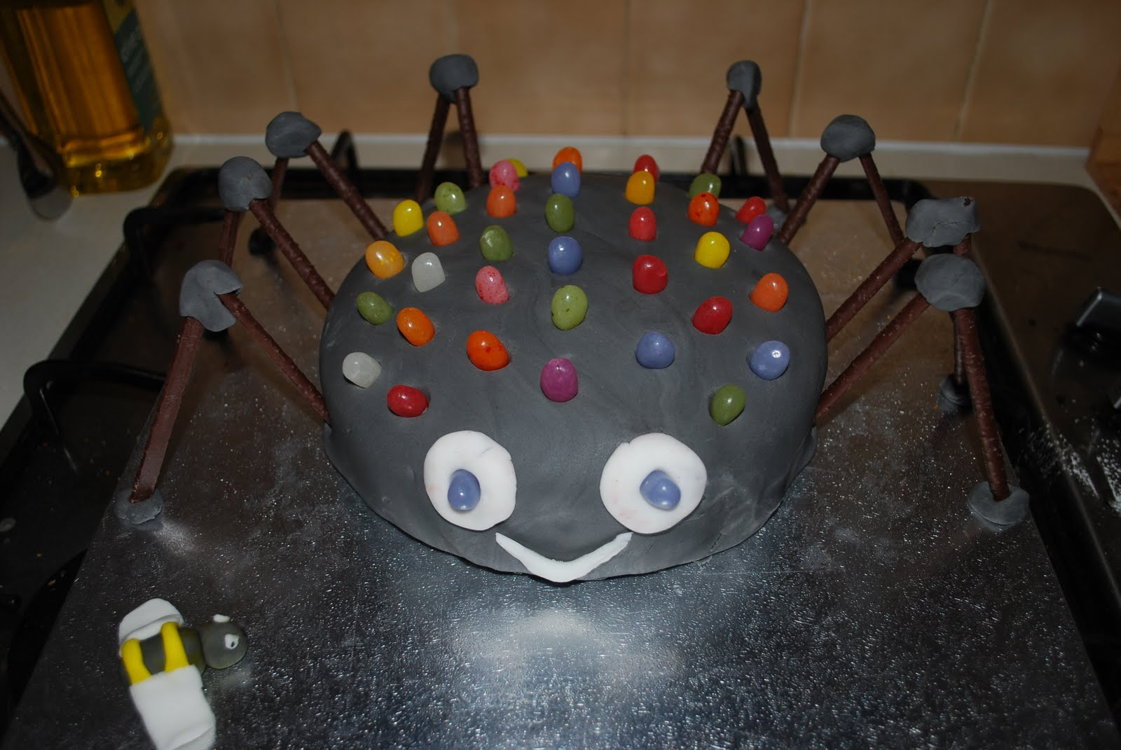 Simple Spider Birthday Cake Heavenly Handmades