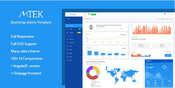 MTek - Admin Template Bootstrap + AngularJS