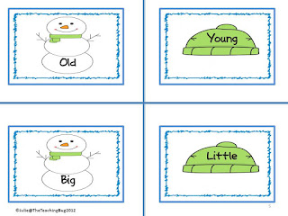 http://theteachingbug36.blogspot.com/2016/01/snow-day-snow-themed-centers.html