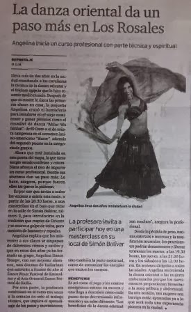 Prensa: Angelina en el Ideal Gallego