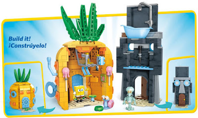 TOYS : JUGUETES - MEGA BLOKS  Bob Esponja - Set Malos Vecinos    SpongeBob SquarePants - Bad Neighbours Set  Producto Oficial 2015 | CNF69 | Piezas: 498 | Edad:  +5 años  Comprar en Amazon
