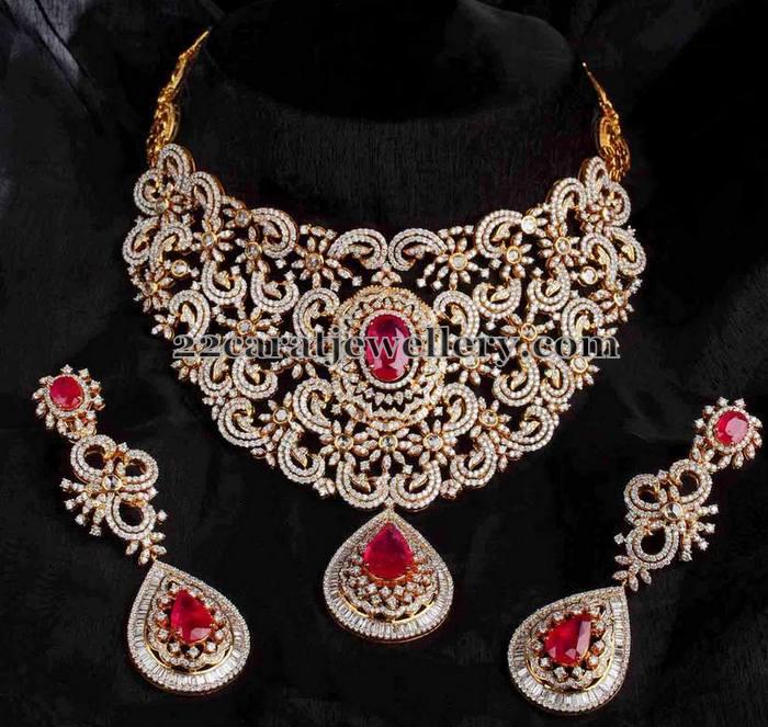 Heavy Bridal Necklace By Mangatrai Jewellery Designs
