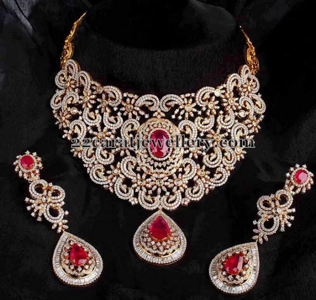 Heavy Bridal Necklace by Mangatrai