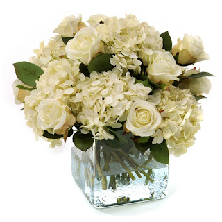 Creamy Rose Faux Flower Arrangement