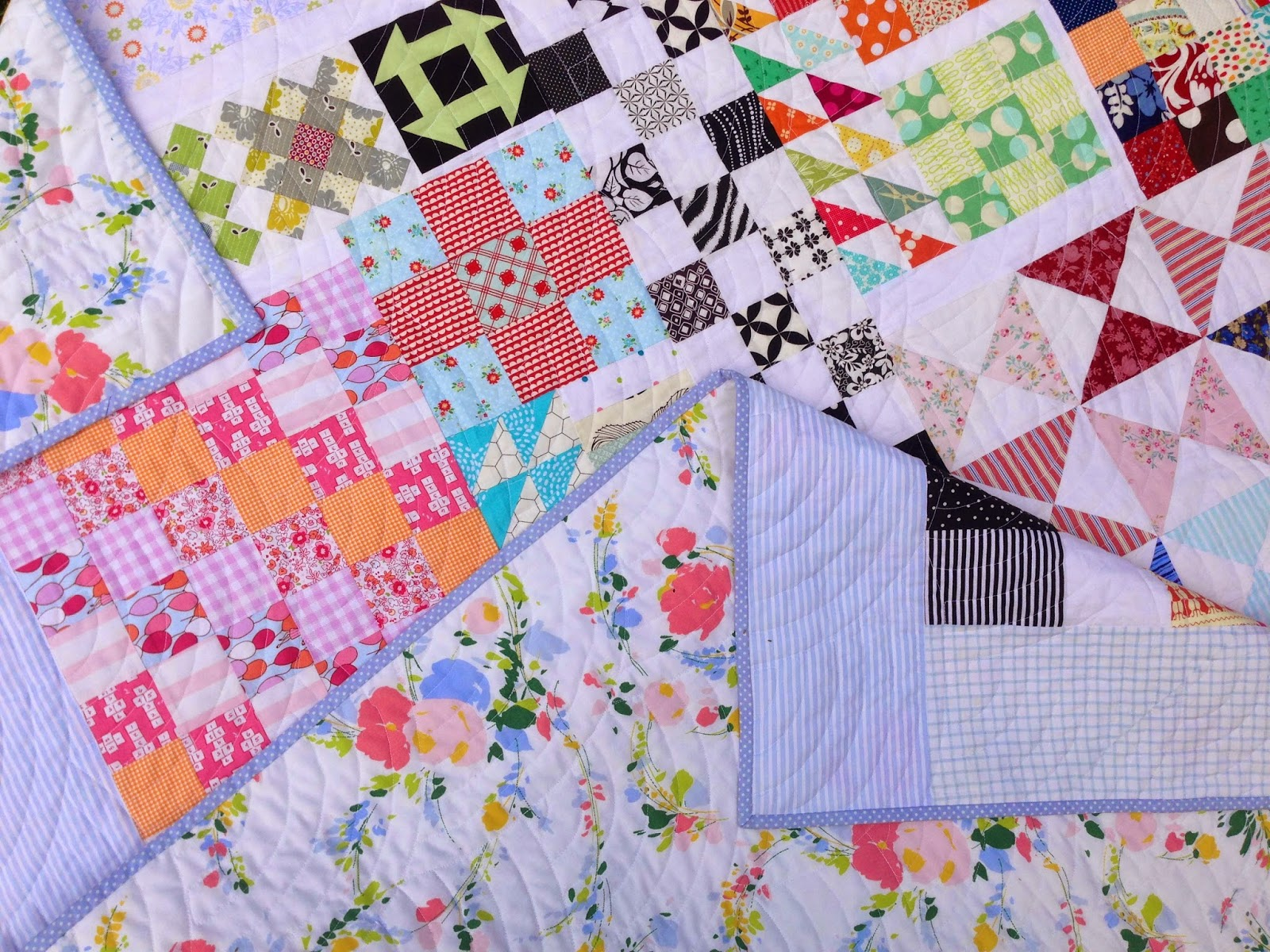 Scrappy Kitchen Sink Quilt Up Close