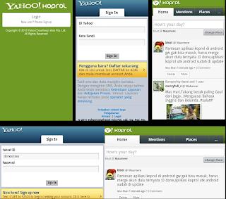 Aplikasi Yahoo Koprol untuk Android