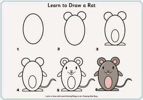 Learn to draw  a mouse for kids