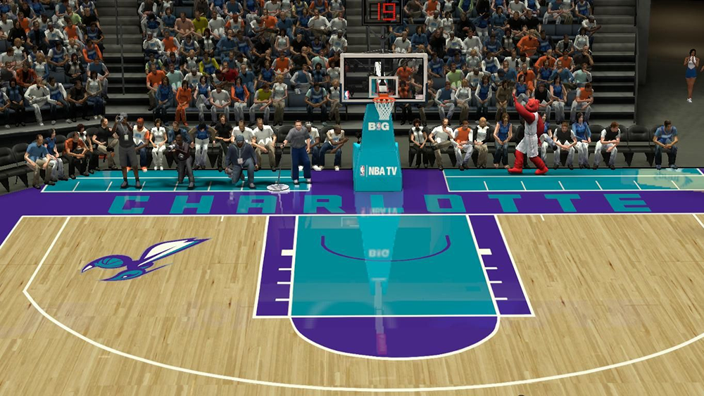 NBA 2K14 Charlotte Hornets Court Patch