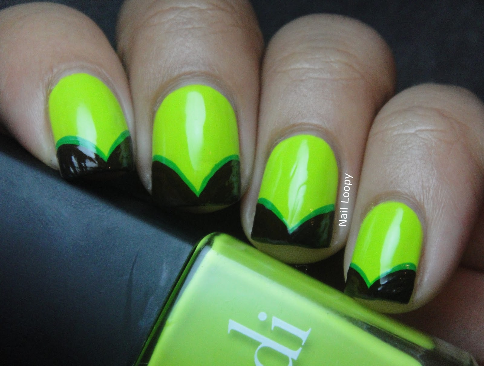 BONDI - THE LIMELIGHT FISHTAIL NAILS