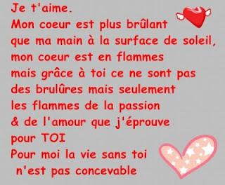 poésie d'amour