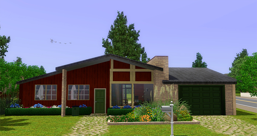 My Sims 3 Blog Awesims Mid Century Homes For Queenstown