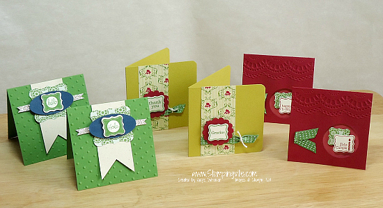 Stampin' Up! Pretty Petites Stamp Set Mini Card Set