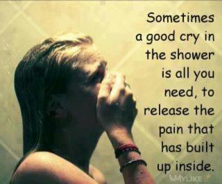 quote cry shower sad