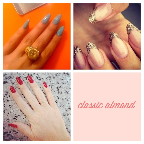 return to almond shaped nails
