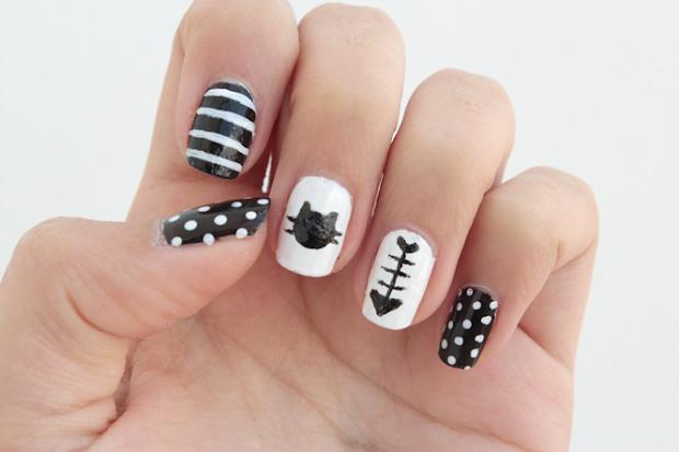 diy cat nails - curly