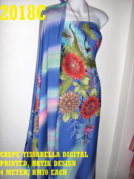 CTD 2018C: BATIK CREPE TISSABELLA DIGITAL PRINTED, EXCLUSIVE DESIGN, 4 METER