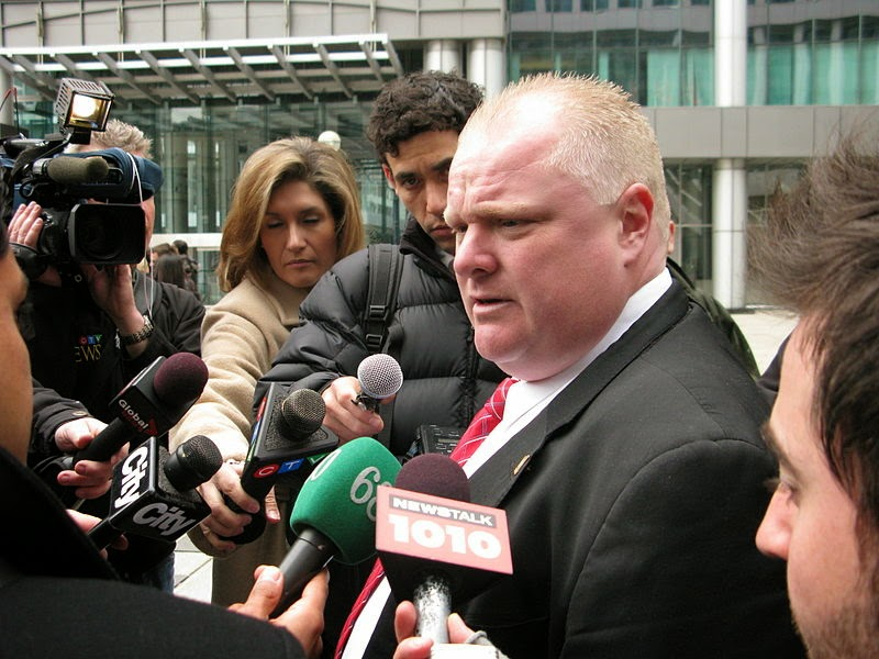 Rob Ford, Bob Marier, Pig Face, Toronto, sobriety coach,