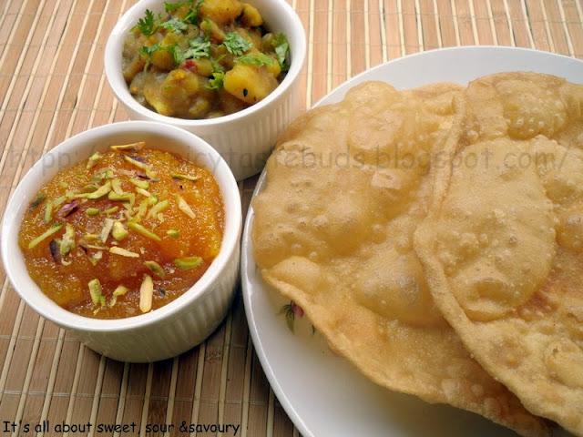 Halwa Puri with Alu Ke Tarkari